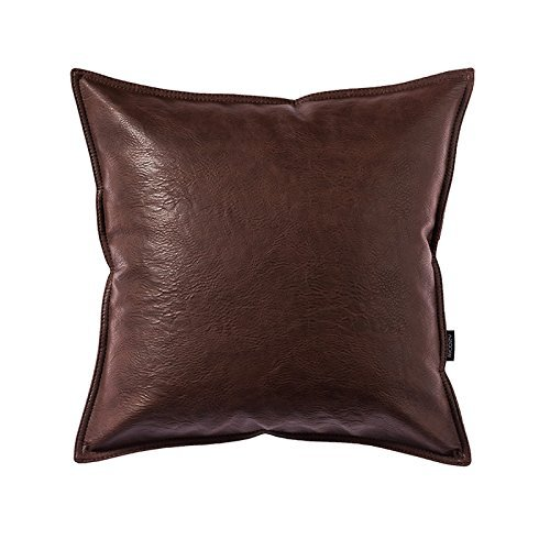 - OJIA Deluxe Home Decorative Postmodern Art Metallic Soft Leather Throw Pillow Cover Cushion Case (18 x 18 Inch,Coffe)