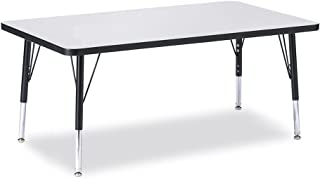 "product image for Jonti-Craft Kydz Activity Table 30"" X 48"" Rectangle/Gray Top/Black Edge/Toddler Height"