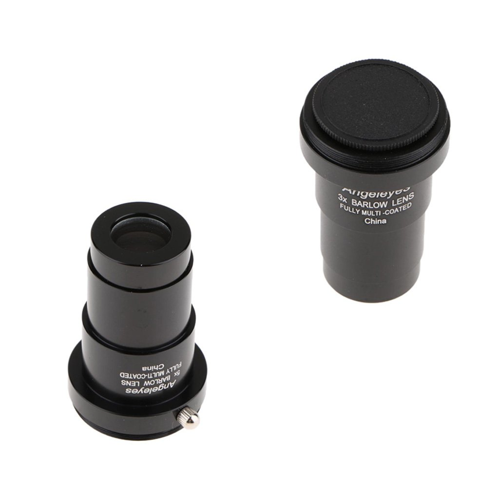 D DOLITY 3X & 5X Barlow Lens for Celestron 102ED 130EQ CGX Telescope Eyepiece Set Multilayer HD Broadband Purple Film 1.25'