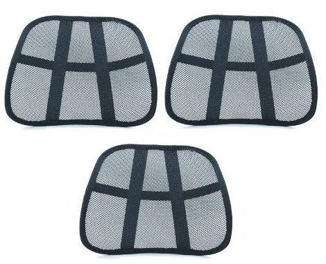 PrimeTrendz TM Ergonomic- Lumbar- Mesh Back Support- On Sale (3 Pack Offer)