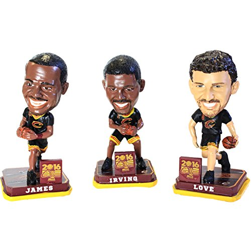 Official 2016 Cleveland Cavaliers 3 Pack NBA Finals Mini Basketball Bobbleheads by Forever Collectibles
