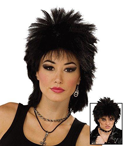 Forum Novelties 80's Black Punk Rock Star Wig ()