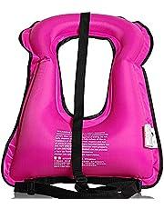 KELITINAus Opblaasbaar Snorkel Vest Ultra-Portable Unisex Snorkelen Zwemmen Float Veiligheid Jas, Vissen Life Vest Drijfvermogen Pak Drifting Water Sport Ce Certificatie, voor volwassenen meer dan 30 kg, Roze