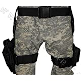 3 pc Drop Leg Gun Holster W/ 3 Magazine Pouches Pistol Pouch Tactical/Airsoft