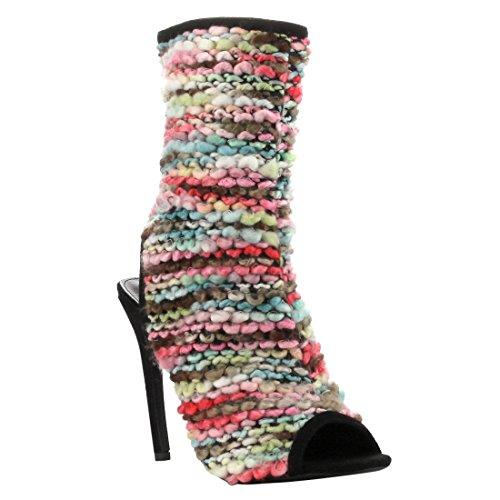 Zapatos De Tobillo De Tacón Alto Abierto Del Tobillo De La Cabo Robbin Fg52 Para Mujer De Alto Colorido