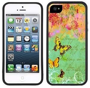 Butterflies Butterfly Vintage Handmade iPhone 5C Black Case