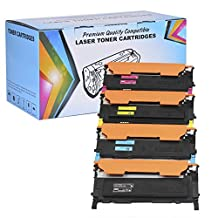 4 Pack - Proosh Compatible Toner Cartridge Set for Samsung (CLT-K406S, CLT-C406S, CLT-M406S, CLT-Y406S) Black, Cyan, Magenta, Yellow, Non OEM; for use in Compatible Printers: Samsung CLP-365 CLP-365W CLX-3305 CLX-3305FW Xpress C410W Xpress SL-C410W Xpress SL-C460FW Xpress SL-C460W