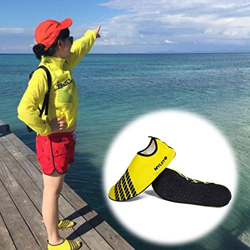 Surf für Gummi Slip Übung Wasser LUFA Yellow Schuh Yoga Haut Strand Schwimmen On Frauen Männer 48xHP