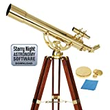 Celestron 21034 Ambassador 80mm Refractor Telescope (Brass)