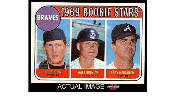 Amazoncom 1969 Topps 611 Braves Rookies Bob Didierwal Hriniak
