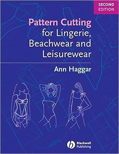 Pattern Cutting For Lingerie Beachwear And Leisurewear Ann Haggar