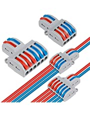 Compacte draadconnectoren, 18 stks DIY Hendel Moer Assortiment Leider Connector One-op-een Quick Terminal Block Wire Push Cable Connector (SPL-42 12 Stks, SPL-62 6 Stks)