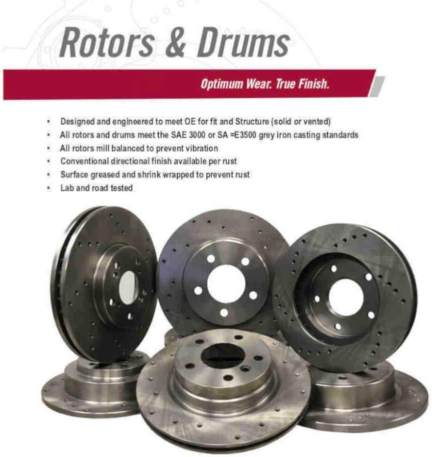 55039D Rear Drilled Brake Rotor pair of 2
