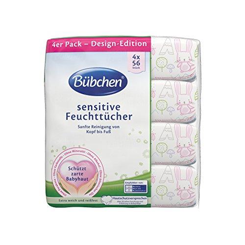 Bübchen Feuchttücher Sensitive 3-Monats-Maxipack, 896 Tücher (4 x 224 Tücher)
