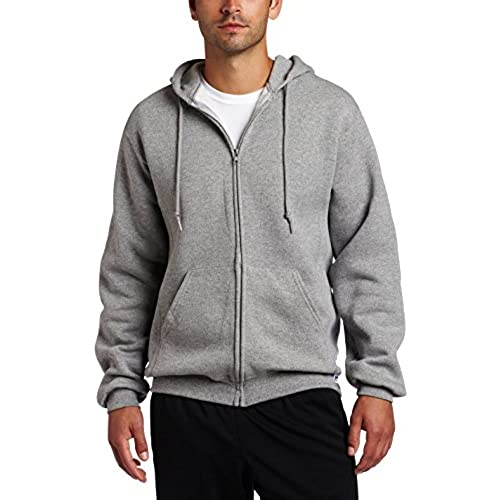 Russell Athletic Men's Dri Power Full Zip Fleece Hoodie, Oxford, Large
