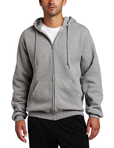 Russell Athletic Men's Dri Power Full Zip Fleece Hoodie, Oxford, (Fleece Full Zip Hood Sweatshirt)