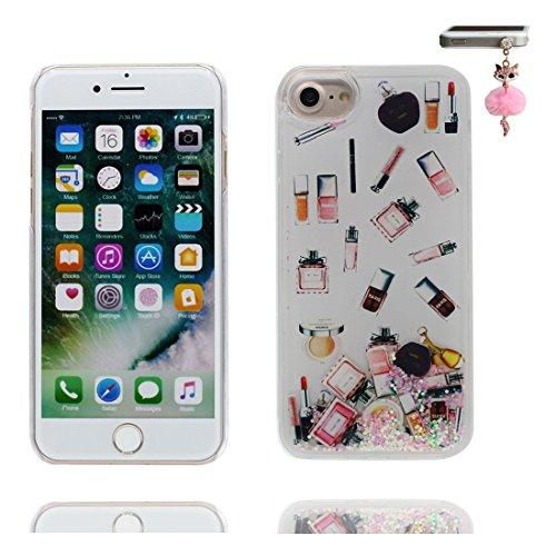iPhone 6 Plus Custodia, Bling Glitter ultra sottile / Case iPhone 6s Plus Copertura / Shock Dust Resistant Shell iPhone 6 Plus Cover 5.5 & tappi antipolvere / fiore color 7