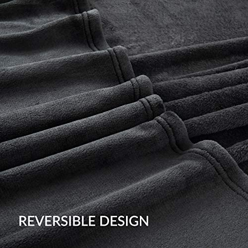 Bedsure Fleece Blanket Queen Size Black Lightweight Super Soft Cozy Luxury Bed Blanket Microfiberer Soft Cozy Luxury Bed Blanket Microfiber