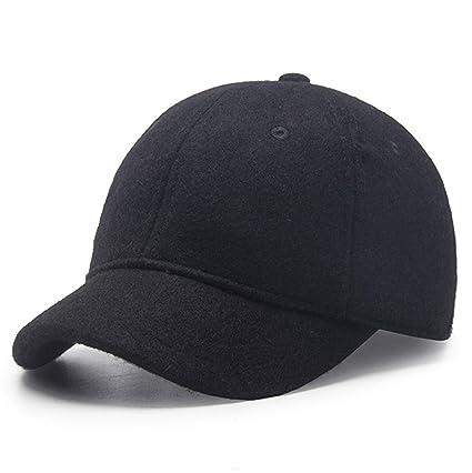 e0d83310fd32d GADIEMKENSD Winter Hat,Wool Felt Autumn Winter Hat Solid Color Short Soft  Brim Lightweight Day