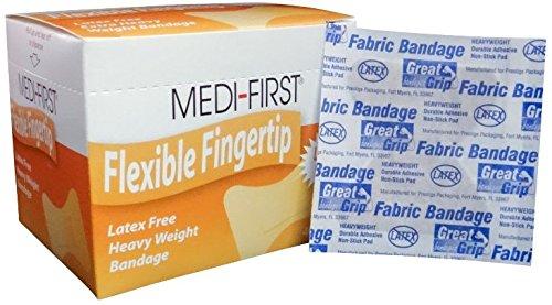 Adhesive Fabric Bandages, Flexible Fingertip Bandage, Small, 40 Pack