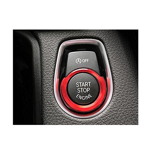 Thor-Inst 1 PC Start Stop Button Ring Push Button Ignition Switch Decor Frame Cover Trim Sticker for BMW 1 2 3/GT3 4 New X1 Series F30 316i 320i 328i F20 116i 118i (Red)