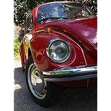 LAMINATED 24x32 Poster: Vw Beetle Auto Lights Spotlight Blinker Bumper Wheel Rim Oldtimer Vw Vehicle Classic Old Volkswagen Red Beetle
