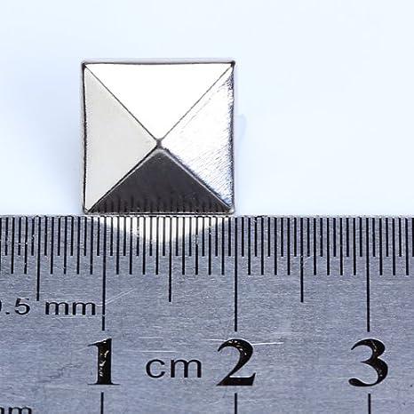 Liroyal Approx 100pcs 4 Prongs Pyramid Studs 12mm Gold