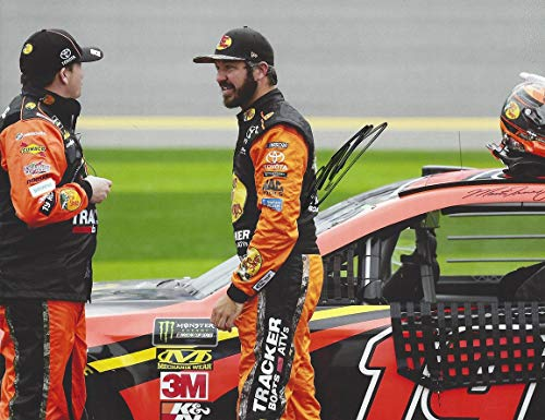 AUTOGRAPHED 2019 Martin Truex Jr. #19 Bass Pro Shops Toyota Driver PIT ROAD TALK (Joe Gibbs Racing) Monster Energy Cup Series Signed Collectible Picture 9X11 Inch NASCAR Glossy Photo with COA