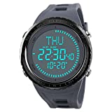 SKMEI NEW Electronic Compass Watch Men's Sports Watches Waterproof Outdoor Chronograph Shock Wristwatches