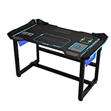 EBLUE EGT515BKAA-IA E-Blue PC Gaming Desk, Large, Multicolour