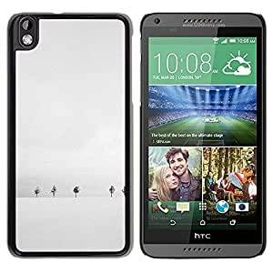 Be Good Phone Accessory // Dura Cáscara cubierta Protectora Caso Carcasa Funda de Protección para HTC DESIRE 816 // Winter White Trees Minimalist Cold