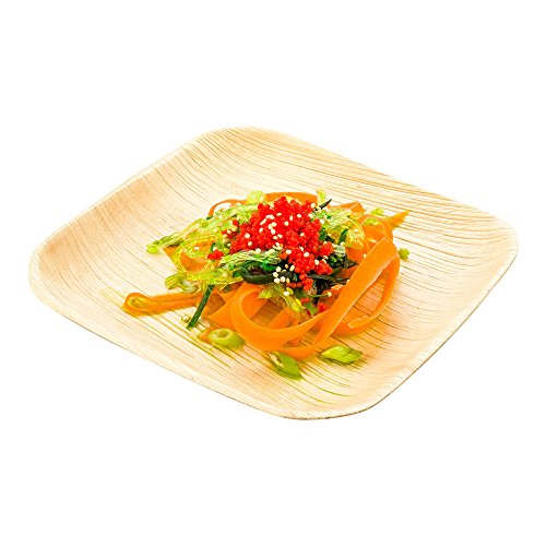 Fits Square Plates (Restaurantware 6-inch Eco-Friendly Indo Palm Leaf Square Plate: Perfect for Parties and Catering Events - Natural Color – Disposable Biodegradable Party Plates – 100-CT)