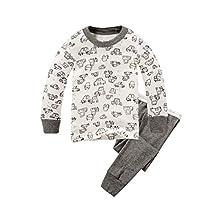 Boys Pajamas Cushy Long Sleeves Toddler Clothes Cars Kids Pjs Sleepwear 2 Piece