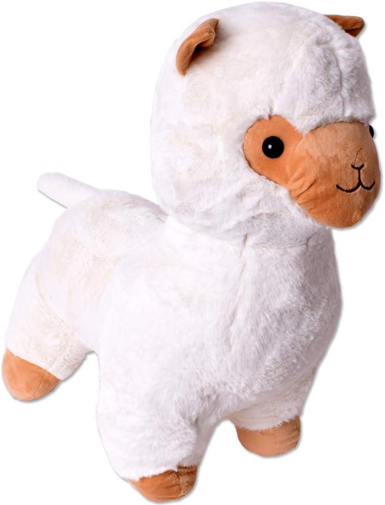 TE-Trend XXL Felpa Alpaca Alpaca Lama Peluche Animal de Peluche Deco Animal Blandito Bebé Niños Regalo 30-65cm Blanco - 55cm Blanco