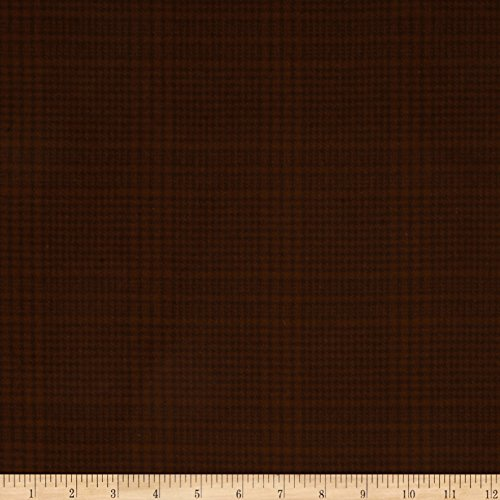 Primo Plaids Flannel Espresso & Latte Glen Plaid Espresso Fabric By The Yard (Plaid Fabric Glen)