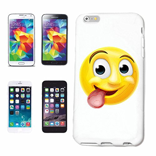"""cas de téléphone Samsung Galaxy S5 """"CULT SMILEY AVEC LONG Tongue """"sourire EMOTICON APP de SMILEYS SMILIES ANDROID IPHONE EMOTICONS IOS"""" Hard Case Cover Téléphone Covers Smart Cover pour Samsung Galaxy"""