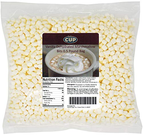 By The Cup Vanilla Dehydrated Marshmallow Bits 0.5 Pound Bag