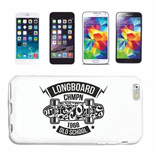 caja del teléfono iPhone 7 SKATER LONGBOARD skateboarder LONGBOARD FREESTYLE Caso duro de la cubierta Teléfono Cubiertas cubierta para el Apple iPhone en blanco