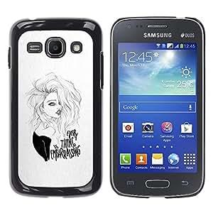 YOYOYO Smartphone Protección Defender Duro Negro Funda Imagen Diseño Carcasa Tapa Case Skin Cover Para Samsung Galaxy Ace 3 GT-S7270 GT-S7275 GT-S7272 - niña bonita, todo es vergonzoso