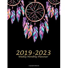 "2019-2023 Weekly Monthly Planner: Beauty Dreamcatcher Black Book, 8.5"" x 11"" Five Year 2019-2023 Calendar Planner, Monthly Calendar Schedule Organizer (60 Months Calendar Planner)"