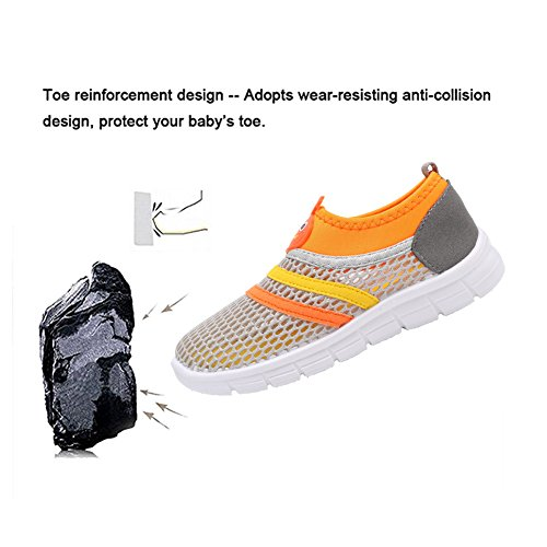 CIOR Kids Aqua Shoes Breathable Slip-on Sneakers For Running Pool Beach Toddler / Little Kid / Big Kid,X1107,Grey,26 4
