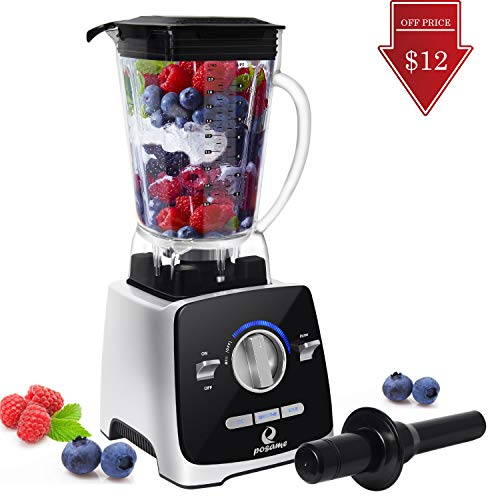 Professional Blender, POSAME 1400W High Speed Blende Blender for Shakes and Smoothies, Hot Soups, Nuts, Coffee Bean, Juice, Baby Food, Countertop Blender , 72 Ounces BPA-Free Tritan Jar, Variable Speed -