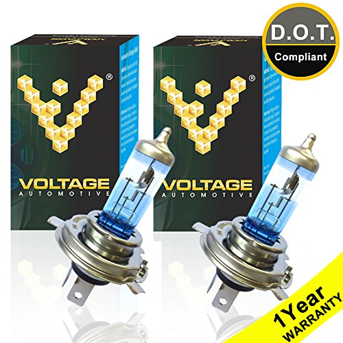Voltage Automotive 9003 HB2 H4 Headlight Bulb Night Eagle 40 Percent Brighter Professional Upgrade (PAIR) - Replacement for High Beam Low Beam