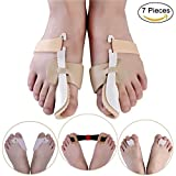 7 Pieces Bunion Corrector & Bunion Relief Protector Sleeves Kit - Treat Pain in Hallux Valgus, Big Toe Joint, Hammer Toe
