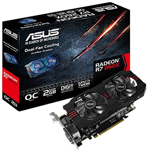 Asus Radeon R7 260X Graphic Card - 1075 MHz Core - 2 GB GDDR5 SDRAM - PCI Express 3.0 R7260X-OC-2GD5