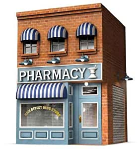 """Drug Store - 18""""H x 17""""W - Peel and Stick Wall Decal by Wallmonkeys"""