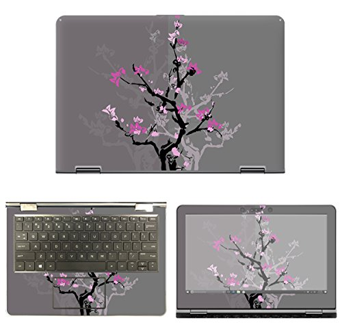 decalrus - Protective Decal Skin Floral Sticker for HP Pavil