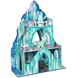 Teamson Kids - Ice Castle Wooden Doll House with 7 pcs Furniture for 12 inch Dolls