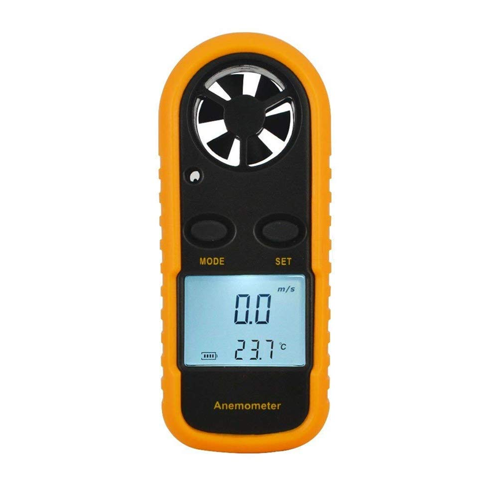 A-szcxtop Anemometer Wind Speed Gauge Meter and Infrared Measure Anemometer Thermometer Device for Flying Kite, Aeromodelling and UAV; Sailing; Surfing; Fishing; Hiking