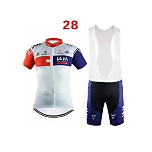 Maillot manches courtes Bicycle Cycling Jersey Quick Dry Outdoor + Shorts Pantalons pour hommes